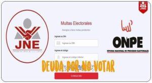 deuda por no votar